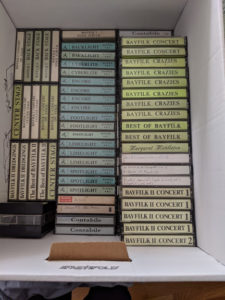 Boxes of tapes
